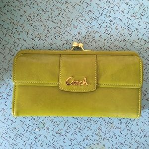 Coach Wallet - Lime Green